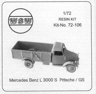 hedco inc l 3000 1 72 wsw models germany resin kit 72 106 mercedes benz l