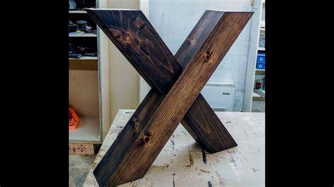 X shaped farm table legs   YouTube