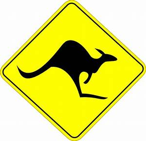 Kangaroo Road Sign Clip Art at Clker.com - vector clip art ...