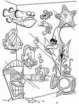 Nemo Coloring Finding Fish Tank Drawing Dory Printable Netart Getdrawings Getcolorings sketch template