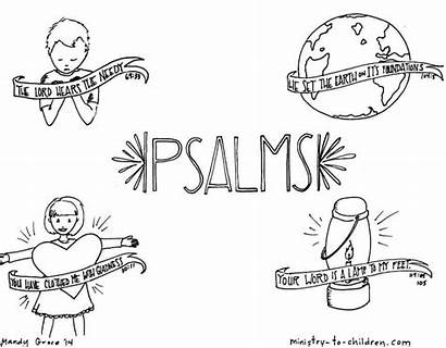 Coloring Psalms Bible Pages Children Ministry Sheets