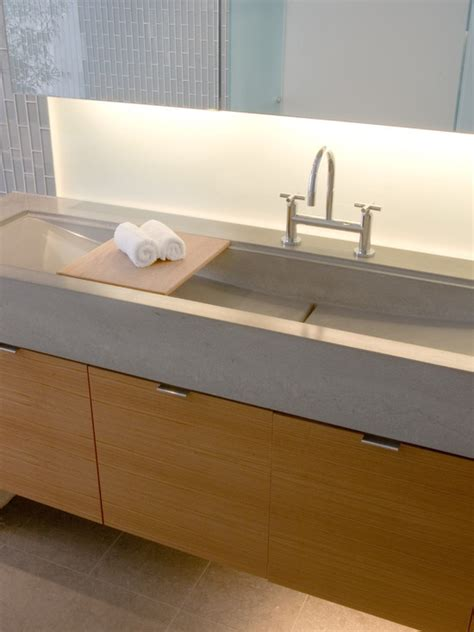 concrete countertop and sink 17 best images about integrated concrete sinks on