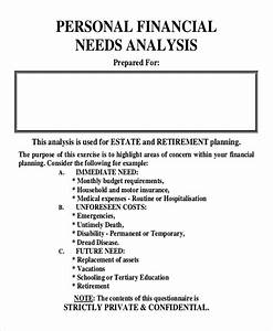 Format Financial Statement Personal Financial Needs