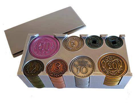 meeplesourcecom nice sturdy coin box  scythe metal