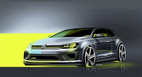 Volkswagen Golf R 400 Concept Previewed Before Beijing