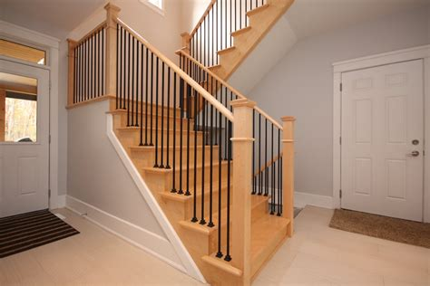 simple stair railing ideas home decorations insight