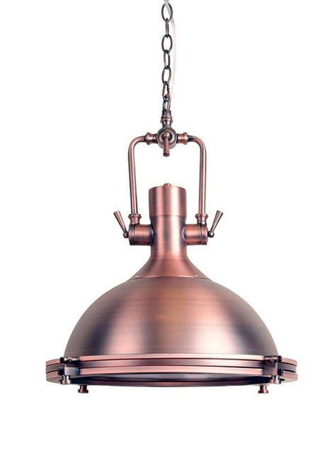 vintage industrial ceiling light nautical copper l