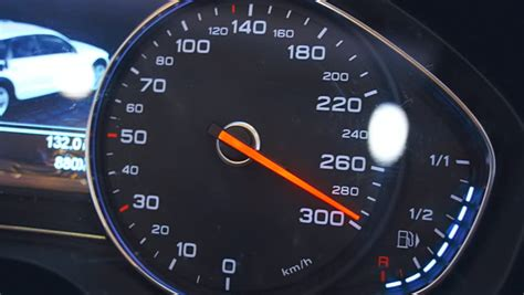 What Is 300 Km In Mph by Up Car Accelerating From Zero Till 220 Mph Stock