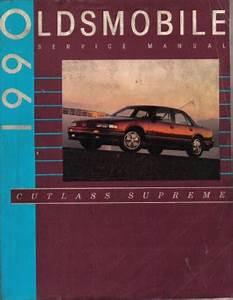 Used 1990 Cutlass Supreme Service Manual