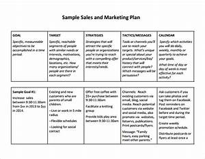 free sales plan templates free printables word excel With sales and marketing plans templates
