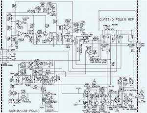 Electro Help  Jbl Sub-10 Sub-woofer - Schematic  Circuit Diagram