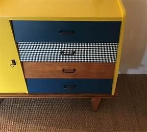 Commode Bleu Canard : commode vintage odette relooking de meubles par lilibroc ~ Teatrodelosmanantiales.com Idées de Décoration