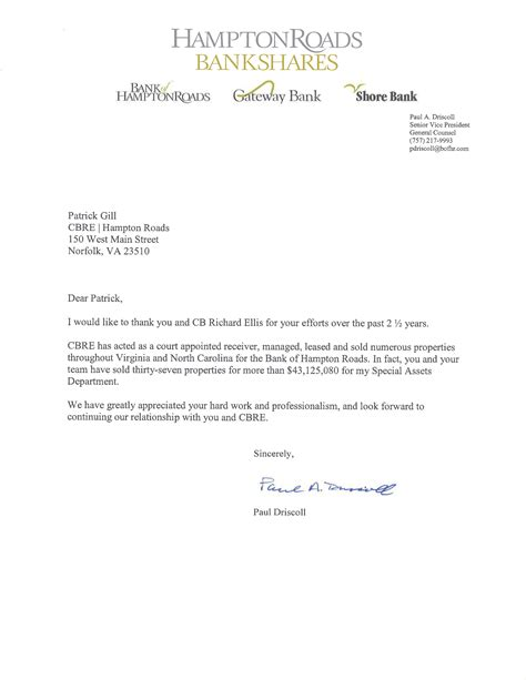 letter of recommendation formal letter template