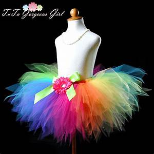 Tuto Tutu Tulle : colorful rainbow birthday tutu rainbow clown tutu rainbow ~ Melissatoandfro.com Idées de Décoration