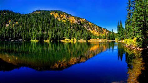 Free photo: Beautiful blue lake - Beautiful, Blue, Cabin ...