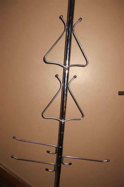 vintage tension pole towel bar spring loaded