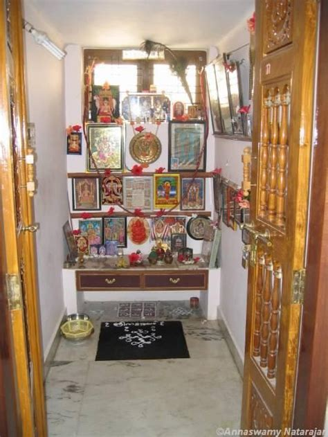 corner  god resides puja room
