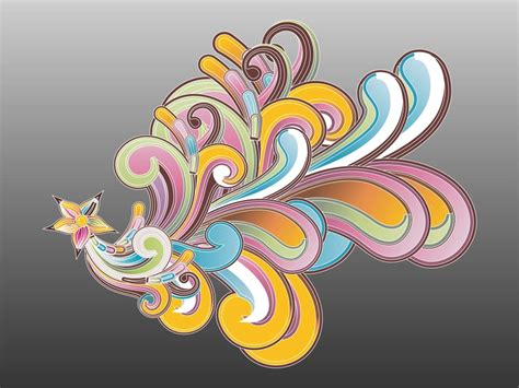 abstract flower graphics
