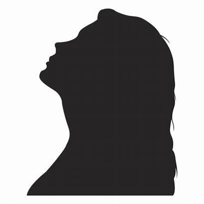 Silhouette Profile Woman Avatar Transparent Female Svg