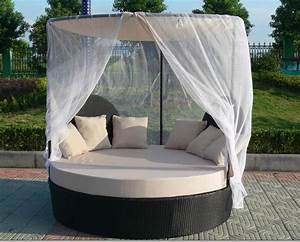 rotin jardin canape lit exterieur rond en rotin daybed With canapé lit rond