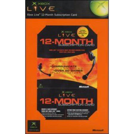 Xbox live 1 year card. Xbox Live 12 Month Gold Card - Walmart.com
