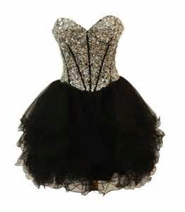 Black Short Puffy Prom Dresses