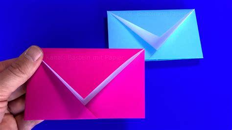 kleine briefumschläge basteln origami briefumschlag falten einfachen diy brief basteln mit papier basteln ideen