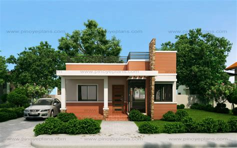 two small house plans rommell one storey modern with roof deck eplans