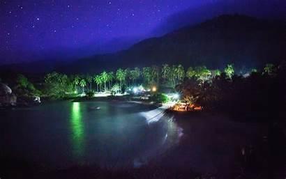 Colombia Nighttime Night Landscape Park Juan San