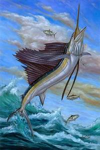 Jumping Sailfish Painting by Terry Fox