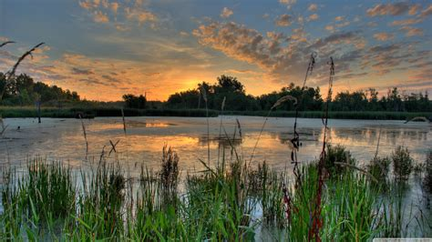 Sunrise Over a Pond in the Minnesota River National ...