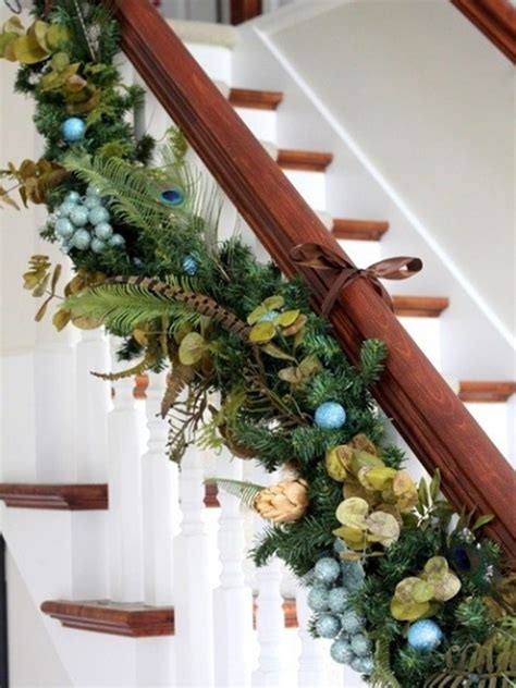 beautiful christmas stair decorations