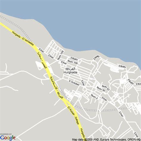 map  hurghada egypt hotels accommodation