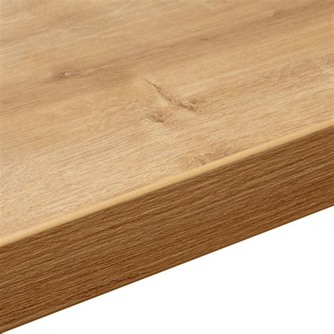 arlington oak 38mm arlington oak laminate soft grain wood effect square edge worktop l 3000mm d 600mm