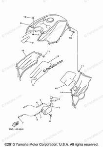 Yamaha Atv 2003 Oem Parts Diagram For Side Cover