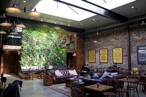 high end lighting inside williamsburg s high end cafe
