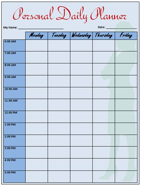 daily planner template word daily planner template that helps to keep you on track