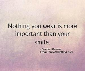 Nothing You Wear Is More Important Than Your Smile ...