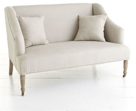 Traditional Settees by Linen Settee Traditional Sofas Dallas By