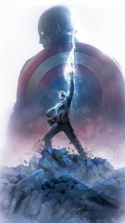 Captain America Thor Hammer Wallpapers Endgame 4k