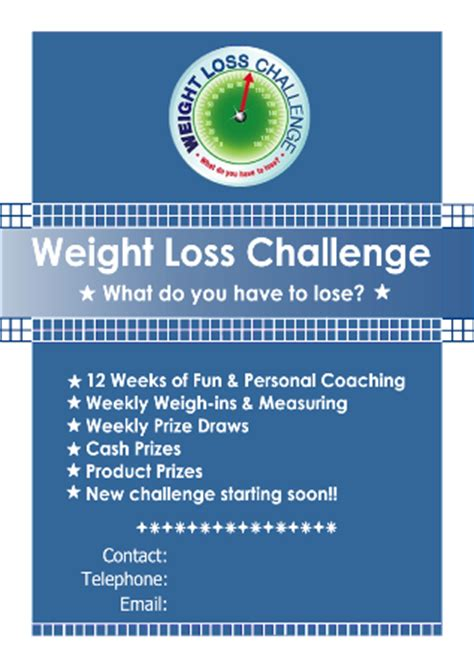 weight loss challenge flyer template back gt gallery for gt work weight loss challenge flyer