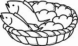 Loaves Coloring Fishes Bread Loaf Basket Fish Drawing Pages Jesus Bible Five Preschool Boy Bowl Getdrawings Colorings Printable Awesome Wecoloringpage sketch template