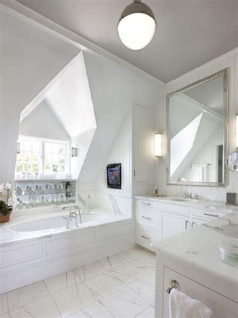 gorgeous bathroom  dormer window   oval shaped