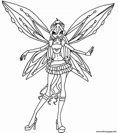 Winx Coloring Bloom Pages Club Zoomix Believix
