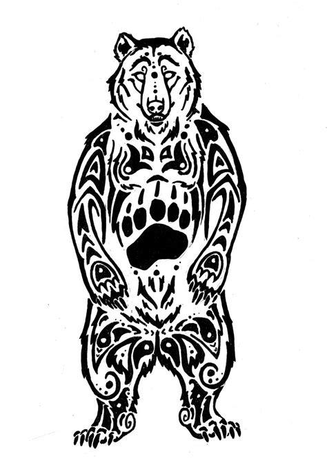 beautiful tribal bear tattoo