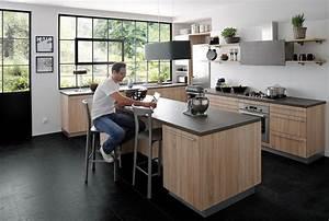 ilot central cuisine cuisinella collection avec modele With modele cuisine avec ilot central