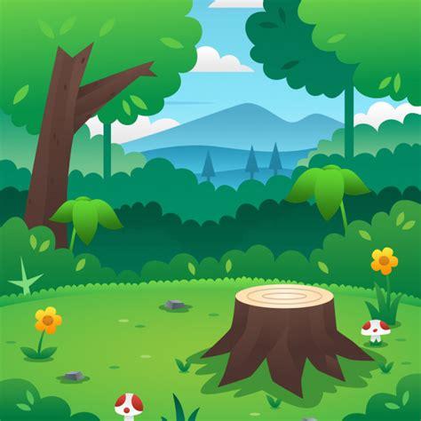foto de Fundo de floresta dos desenhos animados Baixar vetores