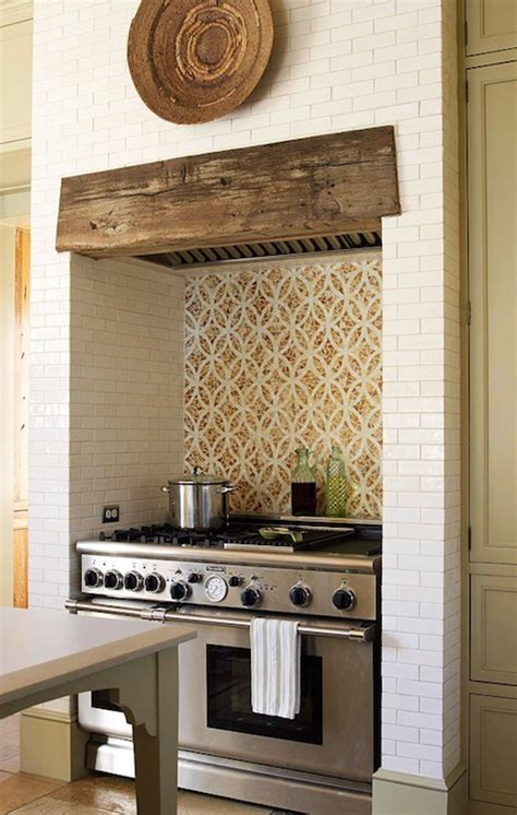 custom interlocking ovals tiles cottage kitchen traditional home