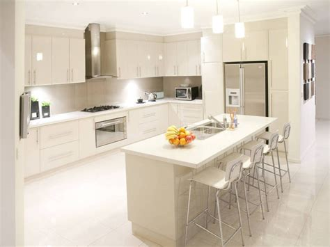 Modern Open Plan Kitchen Design Using Tiles-kitchen