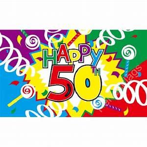 Happy 50th Birthday Flag Special Celebration Flag